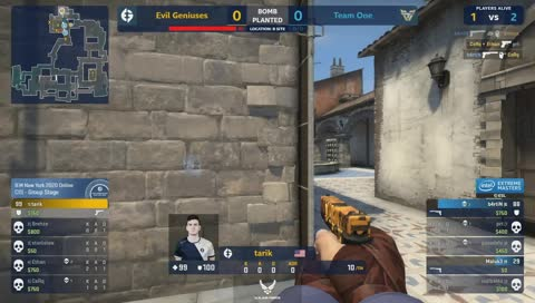 tarik vencendo 1vs2 no pistol da Inferno | draft5.gg