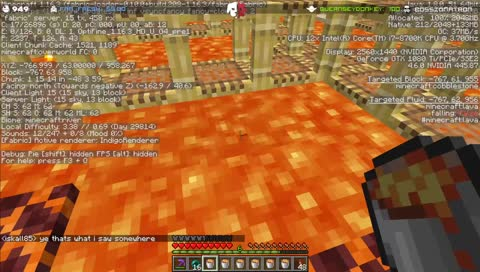 Grian hits Ren with a trident from over 200 blocks away