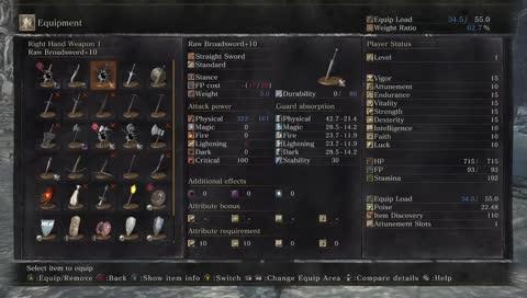 SL1 NG+ broken weapon run