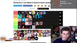 RANK STREAMERS I CAN BEAT IN A FIGHT