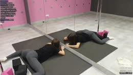 Pole dance 💞 stretching