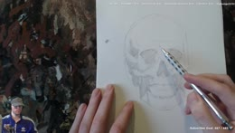 skull construction and portrait day - Rene impression today