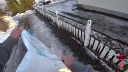 Project remove ice from !gf s driveway | !po box | instagram.com/knutspild | youtube.com/knutspild
