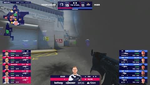 Team Liquid pune avanços do MIBR e fecha o mapa (Nuke)   draft5.gg