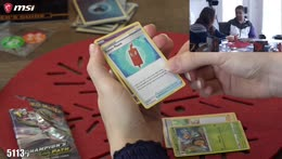 Dude open Pokemon cards and not even into Pokemon
