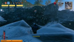 Serpent hunting and entering the snow biome!