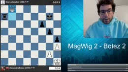 Ludwig's former best chess friend watching him play with his new one