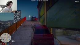 Cop car gets pushed down