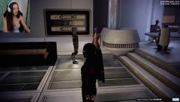 Samantha Playing Mass Effect 2!!!!