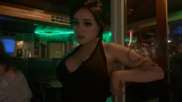 hanging out in a bar