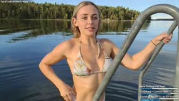 swimming in the Stockholm archipelago  💕   instagram: melina.goransson
