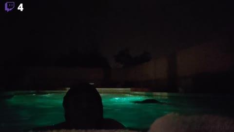 I'm so whet... in the pool!