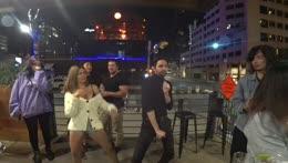 Alinity enjoys her dance with Cyr