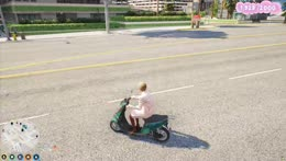 Clara sends it on her moped.