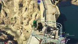 Crystal Clear falls, then gets oceandumped by Batman.