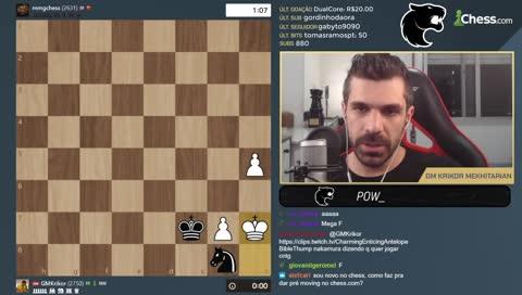 Configurando o pré-move no chess.com