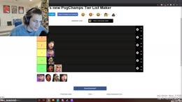 xQc PogChamp tier list - Ranks new PogChamp a FF