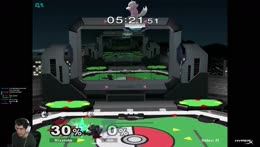 Plup counterpicks Wizzy's wolf with wolf-kirby
