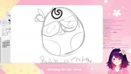 Lily drawing an egg okay.