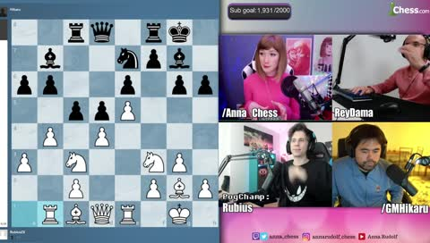 Hikaru says xQc is better than El Rubius in Chess