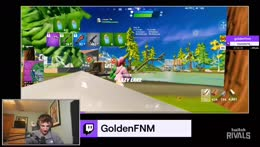 GoldenFNM and monster14_ get a victory royale - team mangaged to move up to 3rd place