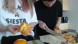 jeannie peals oranges into diamonds