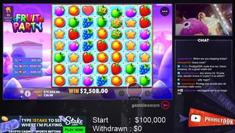 $100000 MAX WIN Fruit Party