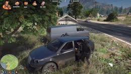 Buddha tries to steal a van
