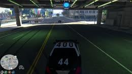 Illegal street race