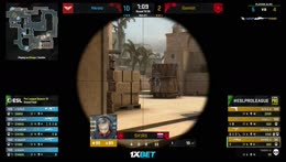sjuush - 3 quick AK HS kills on the bombsite A defense