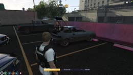 Lenny finally caught a car
