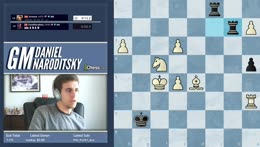 Grischuk underpromotes and then gets Danya with a nice checkmate