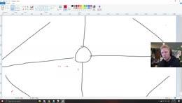 Quin drawing a clock