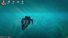 Buddha meets the endboss of the vault heist underwater