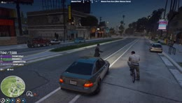 Man on a bike predicts the future