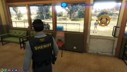 Sheriff's new foot table