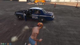 Randy escapes the PD in his underpants