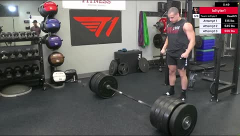 Tyler1 Gets His Deadlift PB at 550 lbs