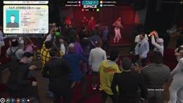 Guy stuck in dancers   Wu-Chang Grand Opening