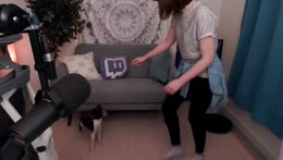 Zoey doing a trick