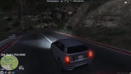 Car falling top right