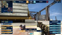 nafany (CT - Famas) wins the 1vs1 post-plant duel with NiKo (AK - site B) to secure the match win