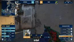 B1T's 1vs4 clutch attempt (T - pre-plant situation) is denied by the final CT (sjuush)