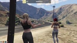 claire dances at the elusive Ninja Hover-Hawk