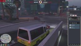One brave man vs a bus of blocks