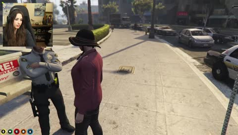 Anitas first encounter with the police