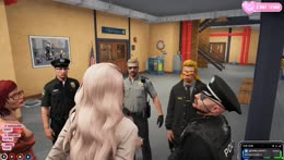 these cops all over her