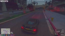 Car crash in race