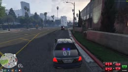 body falls out of ambulance damaging Copper's car