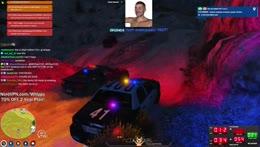 Construction equipment vs cop cruiser